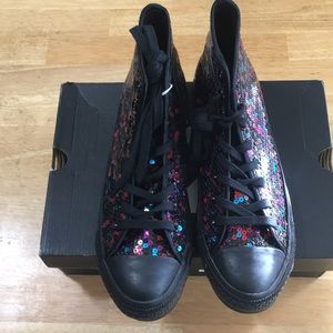 Converse All Star Sequin Sneakers (Size 9)